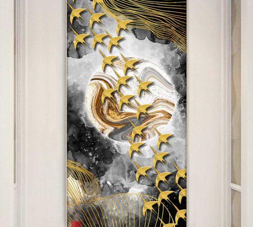 Bo tranh Canvas treo tuong trang tri phong khach truu tuong TT0680