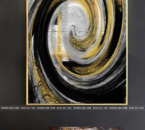 Bo tranh Canvas treo tuong trang tri phong khach truu tuong TT0682