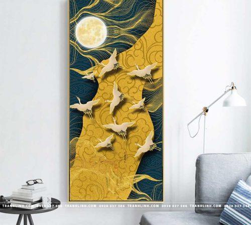 Bo tranh Canvas treo tuong trang tri phong khach truu tuong TT0684