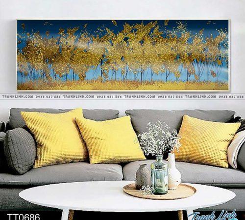Bo tranh Canvas treo tuong trang tri phong khach truu tuong TT0686