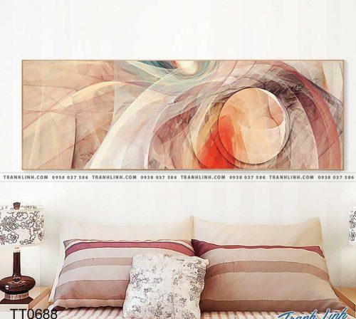 Bo tranh Canvas treo tuong trang tri phong khach truu tuong TT0688