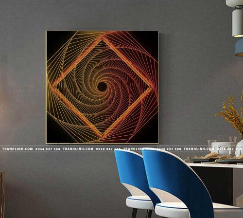 Bo tranh Canvas treo tuong trang tri phong khach truu tuong TT0690