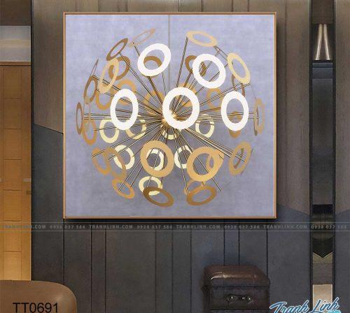 Bo tranh Canvas treo tuong trang tri phong khach truu tuong TT0691