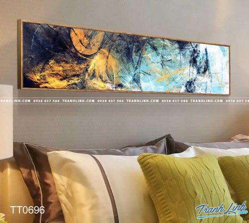Bo tranh Canvas treo tuong trang tri phong khach truu tuong TT0696