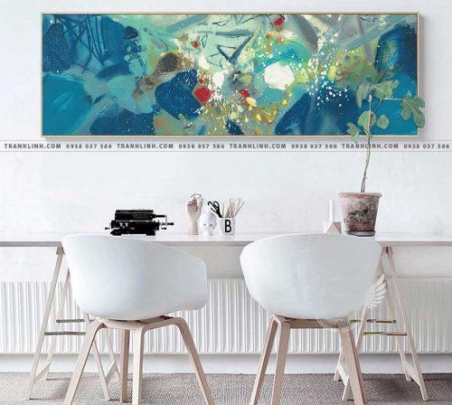 Bo tranh Canvas treo tuong trang tri phong khach truu tuong TT0697