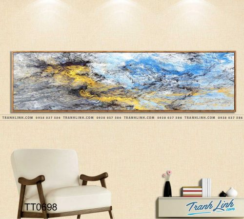 Bo tranh Canvas treo tuong trang tri phong khach truu tuong TT0698