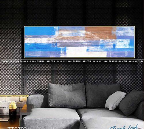 Bo tranh Canvas treo tuong trang tri phong khach truu tuong TT0703