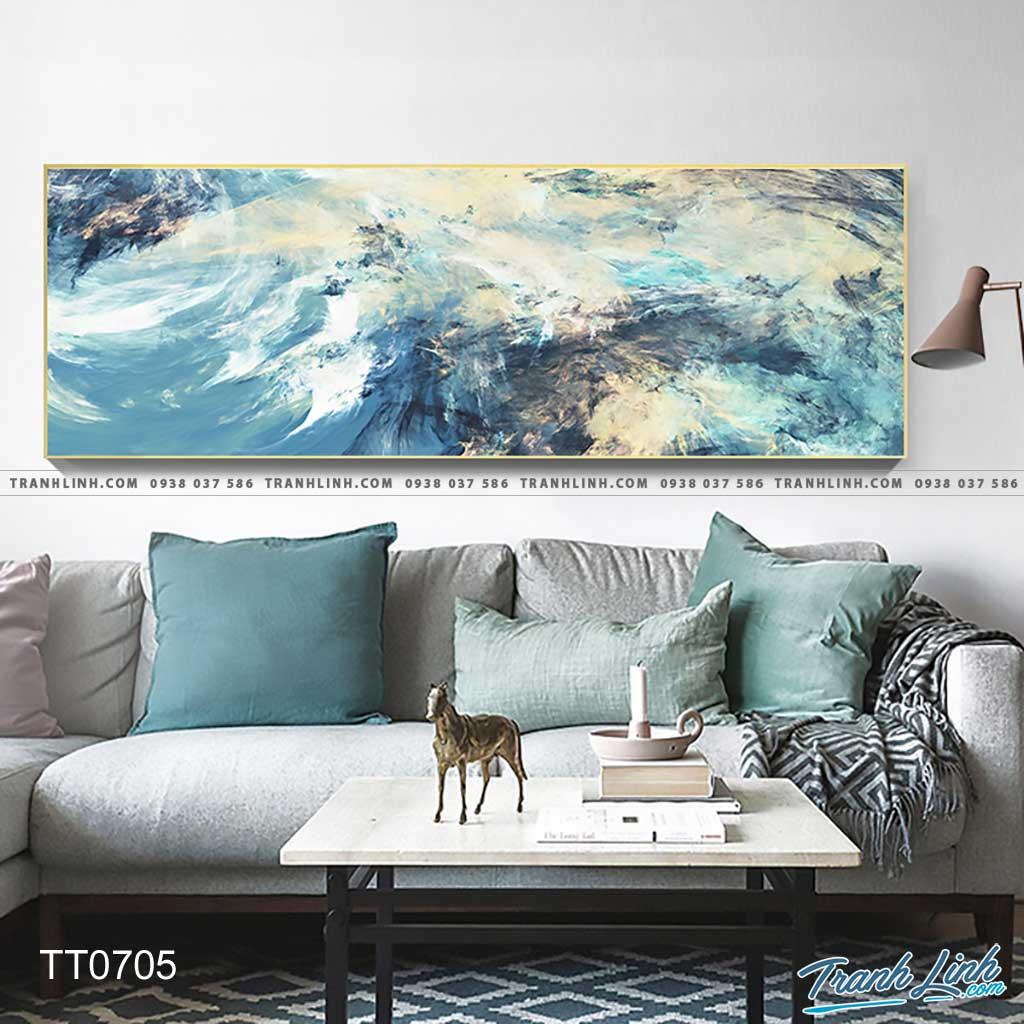 Bo tranh Canvas treo tuong trang tri phong khach truu tuong TT0705
