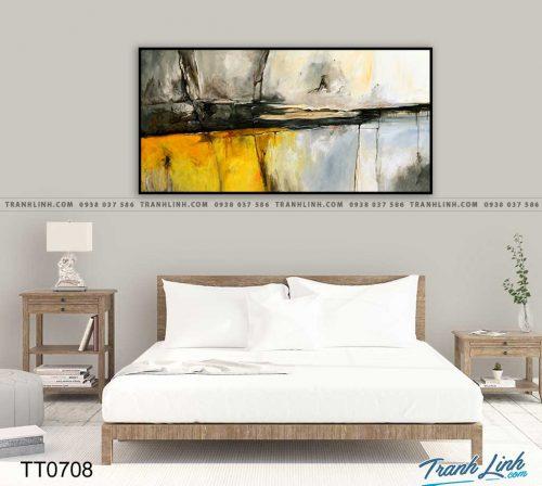 Bo tranh Canvas treo tuong trang tri phong khach truu tuong TT0708