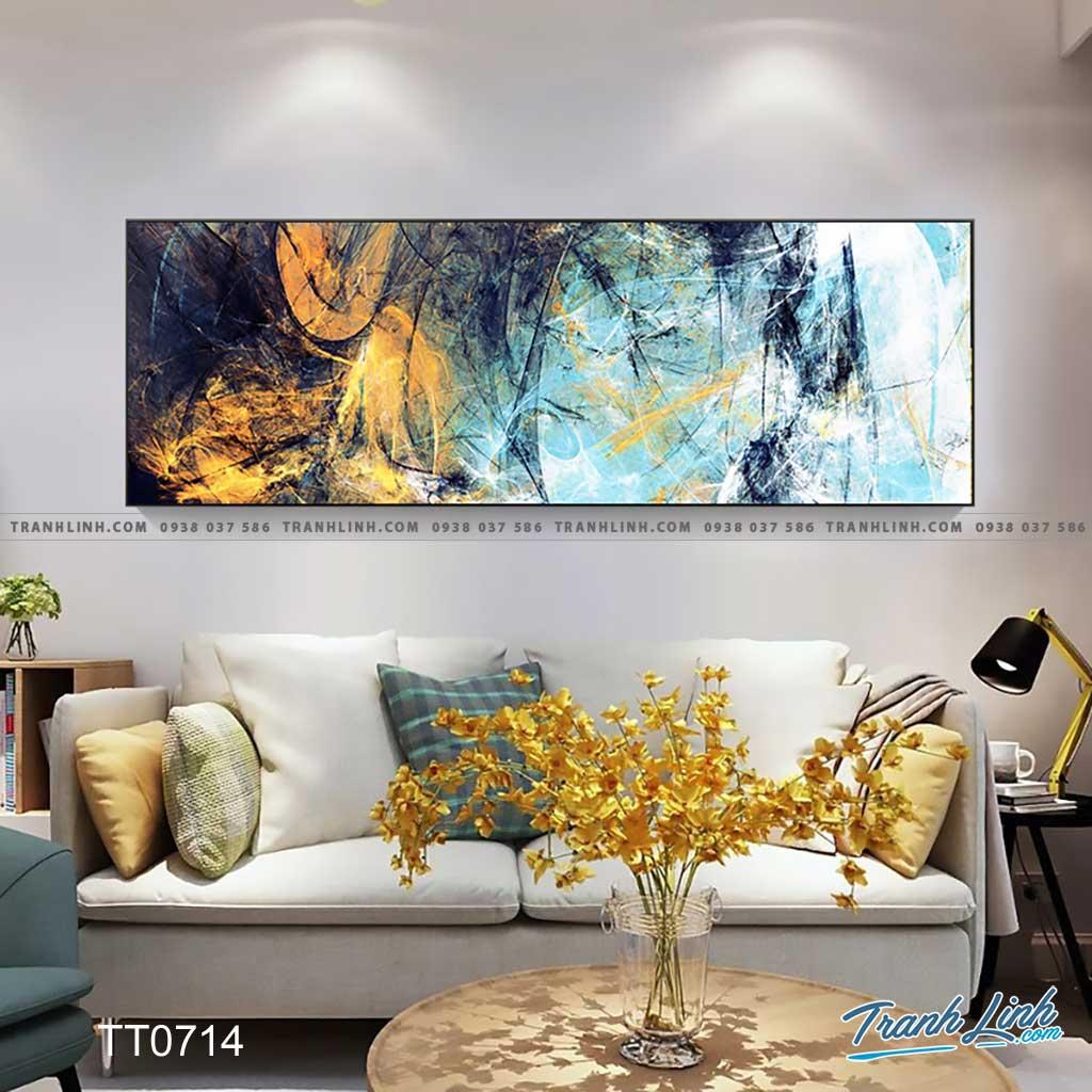 Bo tranh Canvas treo tuong trang tri phong khach truu tuong TT0714
