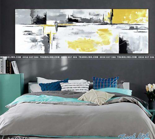 Bo tranh Canvas treo tuong trang tri phong khach truu tuong TT0716