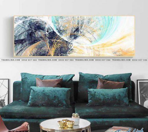 Bo tranh Canvas treo tuong trang tri phong khach truu tuong TT0717