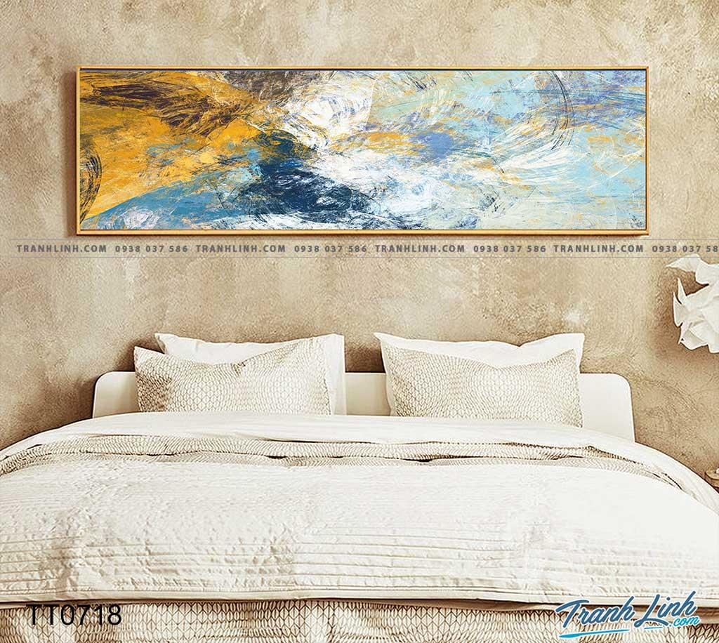 Bo tranh Canvas treo tuong trang tri phong khach truu tuong TT0718