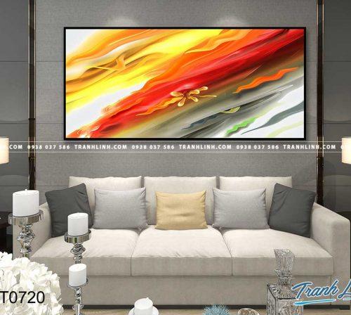 Bo tranh Canvas treo tuong trang tri phong khach truu tuong TT0720