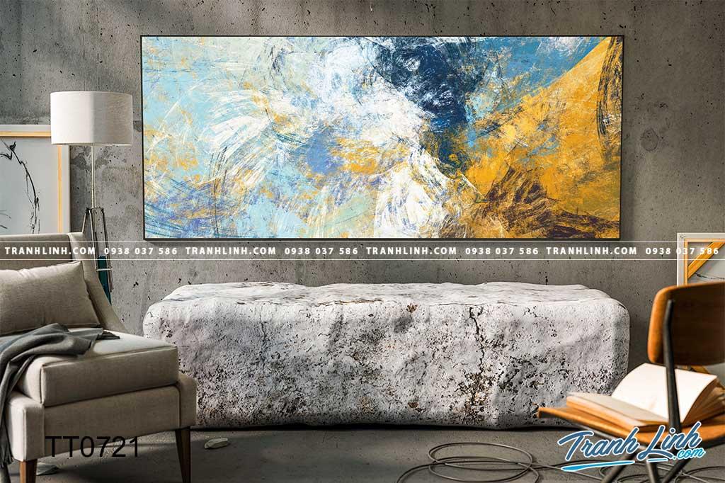 Bo tranh Canvas treo tuong trang tri phong khach truu tuong TT0721