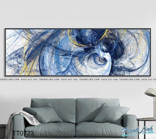 Bo tranh Canvas treo tuong trang tri phong khach truu tuong TT0723
