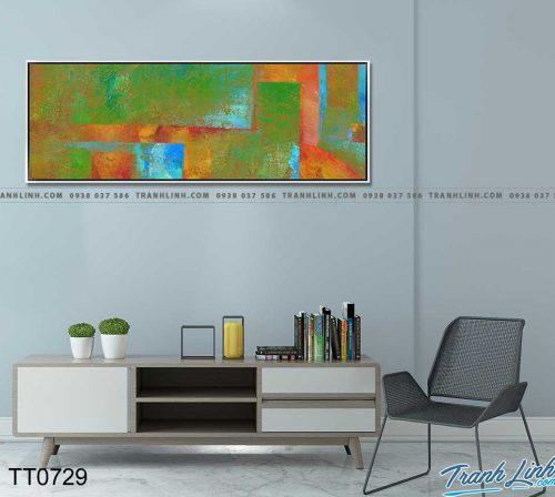 Bo tranh Canvas treo tuong trang tri phong khach truu tuong TT0729