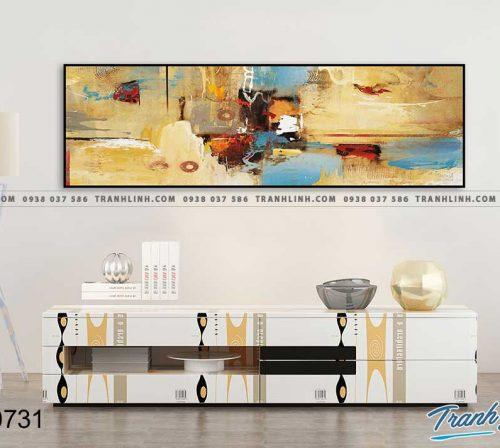 Bo tranh Canvas treo tuong trang tri phong khach truu tuong TT0731