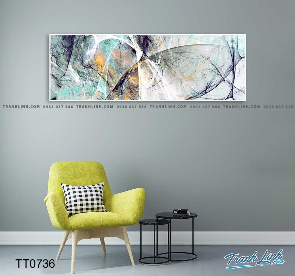 Bo tranh Canvas treo tuong trang tri phong khach truu tuong TT0736