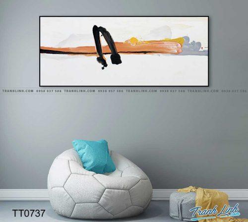 Bo tranh Canvas treo tuong trang tri phong khach truu tuong TT0737