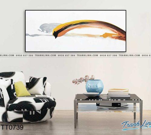 Bo tranh Canvas treo tuong trang tri phong khach truu tuong TT0739