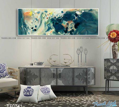 Bo tranh Canvas treo tuong trang tri phong khach truu tuong TT0741