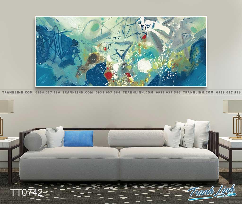 Bo tranh Canvas treo tuong trang tri phong khach truu tuong TT0742
