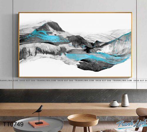 Bo tranh Canvas treo tuong trang tri phong khach truu tuong TT0749