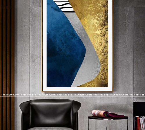 Bo tranh Canvas treo tuong trang tri phong khach truu tuong TT0750