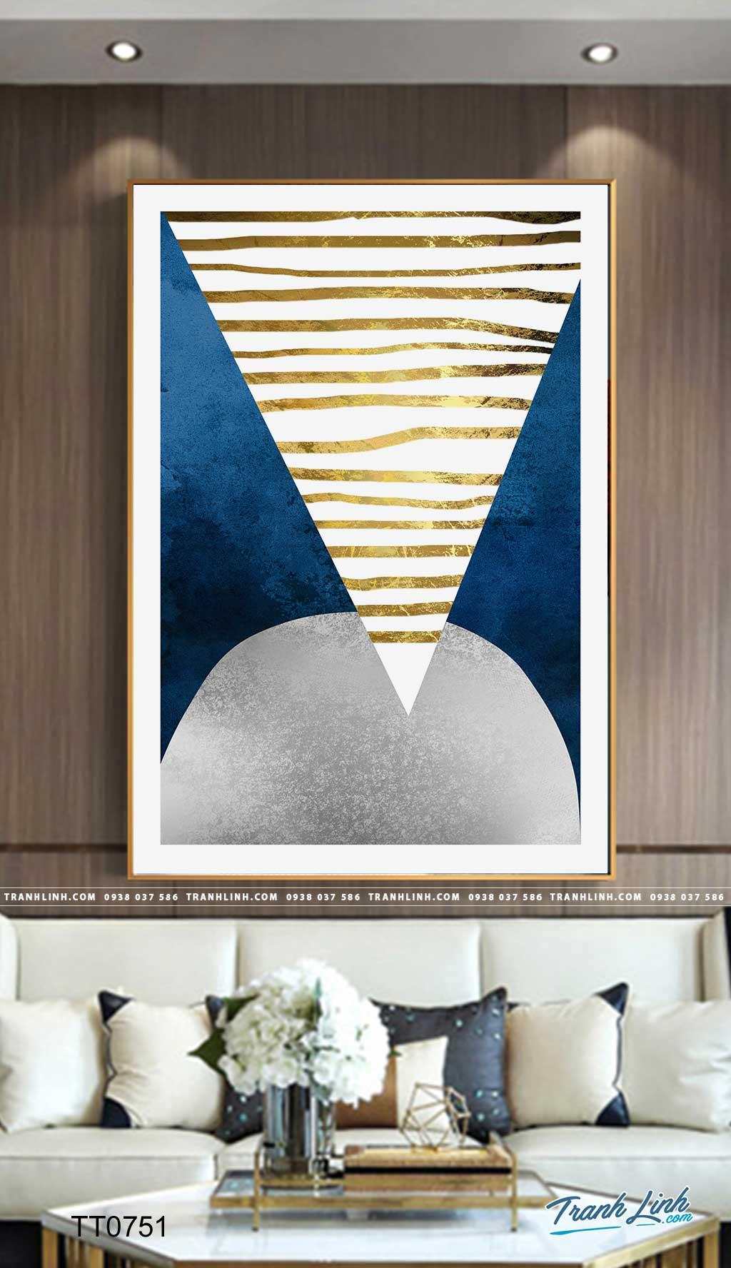 Bo tranh Canvas treo tuong trang tri phong khach truu tuong TT0751