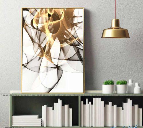 Bo tranh Canvas treo tuong trang tri phong khach truu tuong TT0757