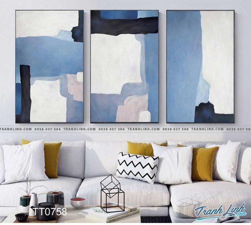 Bo tranh Canvas treo tuong trang tri phong khach truu tuong TT0758
