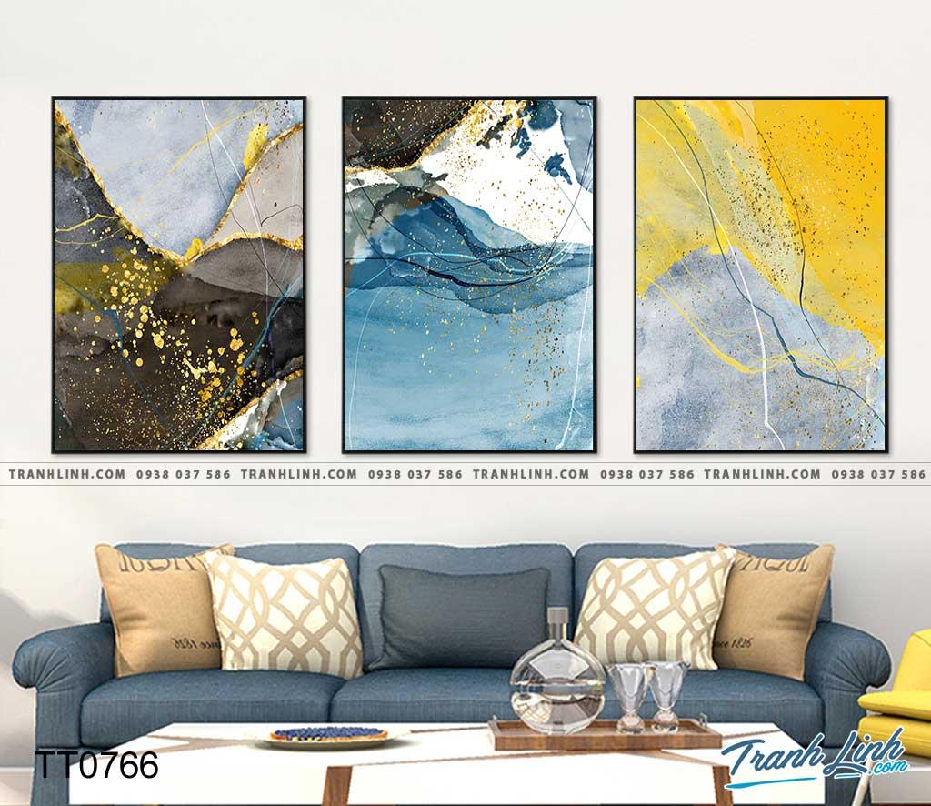 Bo tranh Canvas treo tuong trang tri phong khach truu tuong TT0766