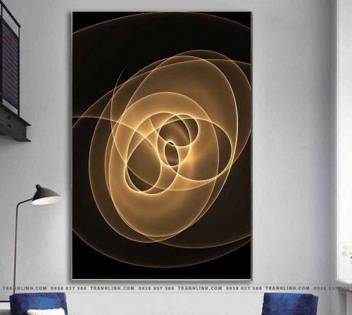 Bo tranh Canvas treo tuong trang tri phong khach truu tuong TT0767
