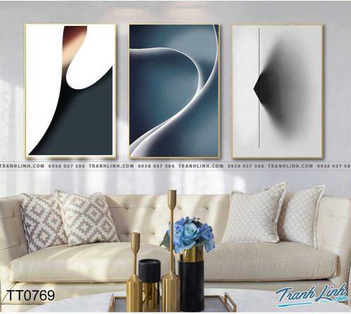 Bo tranh Canvas treo tuong trang tri phong khach truu tuong TT0769