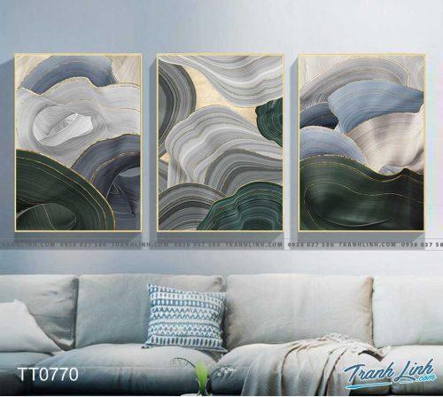 Bo tranh Canvas treo tuong trang tri phong khach truu tuong TT0770