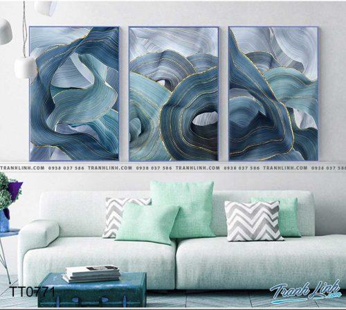 Bo tranh Canvas treo tuong trang tri phong khach truu tuong TT0771