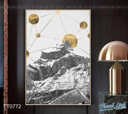 Bo tranh Canvas treo tuong trang tri phong khach truu tuong TT0772