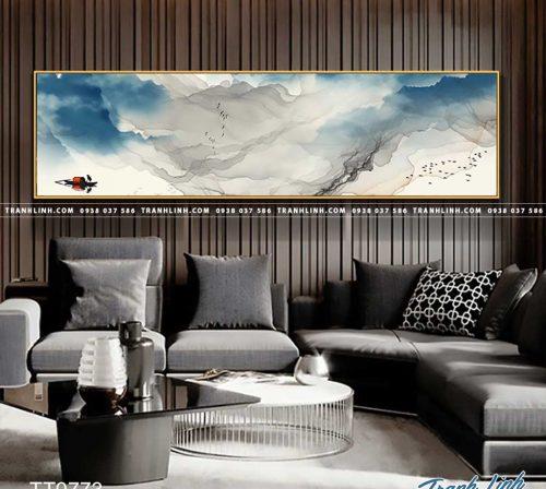 Bo tranh Canvas treo tuong trang tri phong khach truu tuong TT0773