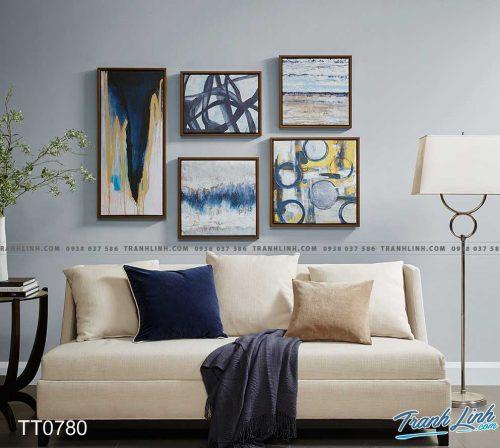 Bo tranh Canvas treo tuong trang tri phong khach truu tuong TT0780