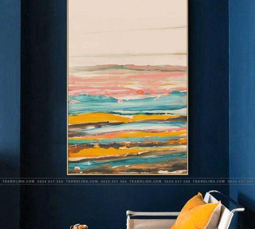 Bo tranh Canvas treo tuong trang tri phong khach truu tuong TT0781