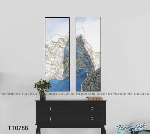 Bo tranh Canvas treo tuong trang tri phong khach truu tuong TT0788