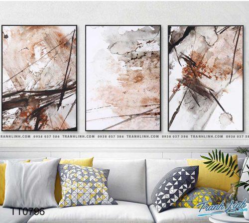 Bo tranh Canvas treo tuong trang tri phong khach truu tuong TT0796