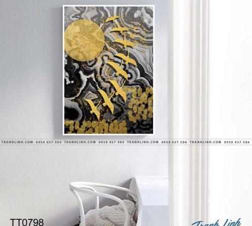 Bo tranh Canvas treo tuong trang tri phong khach truu tuong TT0798
