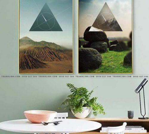 Bo tranh Canvas treo tuong trang tri phong khach truu tuong TT0799