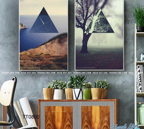 Bo tranh Canvas treo tuong trang tri phong khach truu tuong TT0800