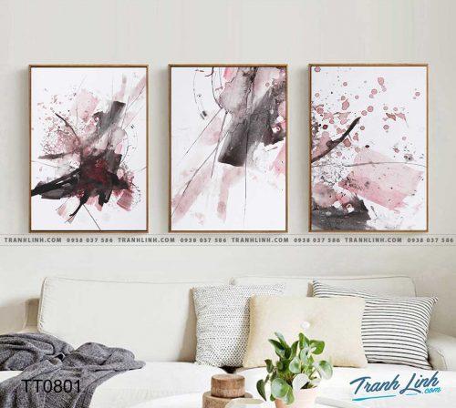 Bo tranh Canvas treo tuong trang tri phong khach truu tuong TT0801