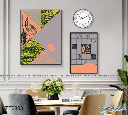 Bo tranh Canvas treo tuong trang tri phong khach truu tuong TT0803