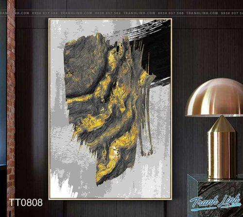Bo tranh Canvas treo tuong trang tri phong khach truu tuong TT0808