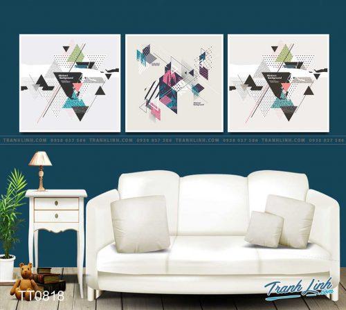 Bo tranh Canvas treo tuong trang tri phong khach truu tuong TT0818
